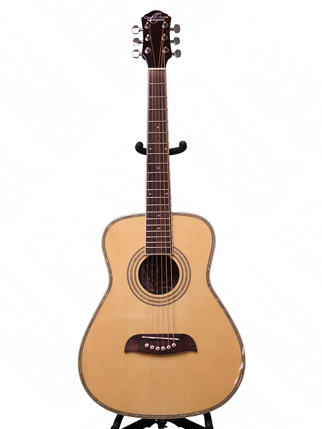 Left Hand Oscar Schmidt 1/2 Size Acoustic Guitar, Natural, Lefty, OGHSLH OGHS-LH