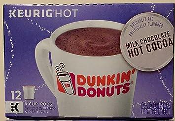 Amazoncom Dunkin Donuts Milk Chocolate Hot Cocoa Kcups Cocoa