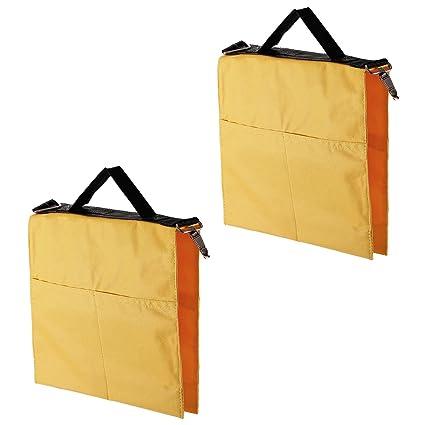 Neewer Pack de 2 Soportes de bolsa de agua de fotografía estudio con 4 bolsas exteriores de luz, soporte del auge, Tripode(Amarillo)