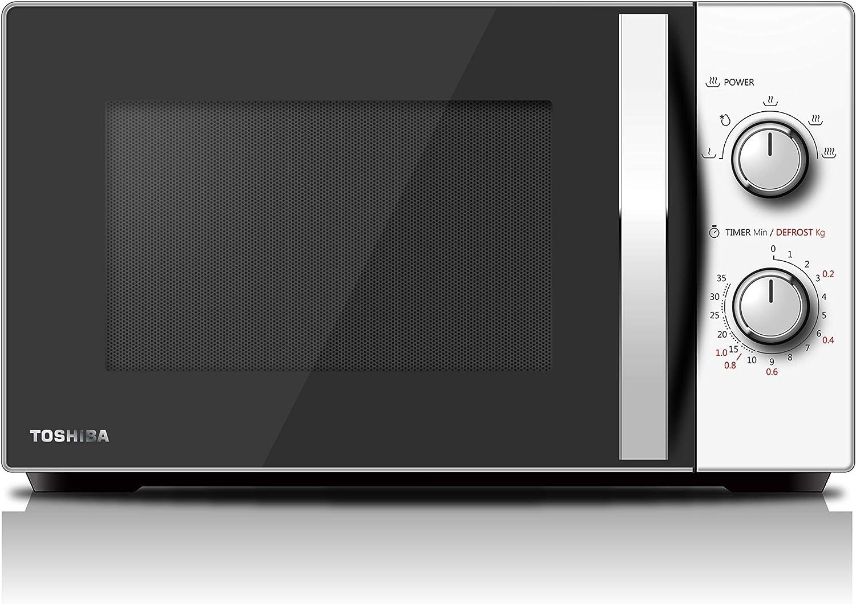 Toshiba MW-MG20P (WH) Horno de microondas con grill 800 W con Crispy Grill 1000 W y cocción combinada, 20 L: Amazon.es: Hogar