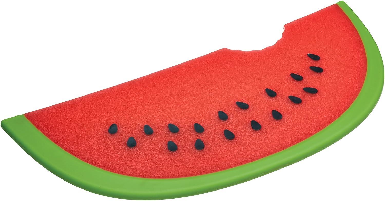 rojo Kitchen Craft 24 x 27 x 1 cm anti-adherente Reversible corte y servir dise/ño de fresas en forma de tabla de cortar