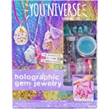 You*Niverse Make Your Own Holographic Gem Jewelry by Horizon Group Usa, DIY Slime Jewelry Making Kit, Gemstones & Jewelry Accessories Included, Multicolored