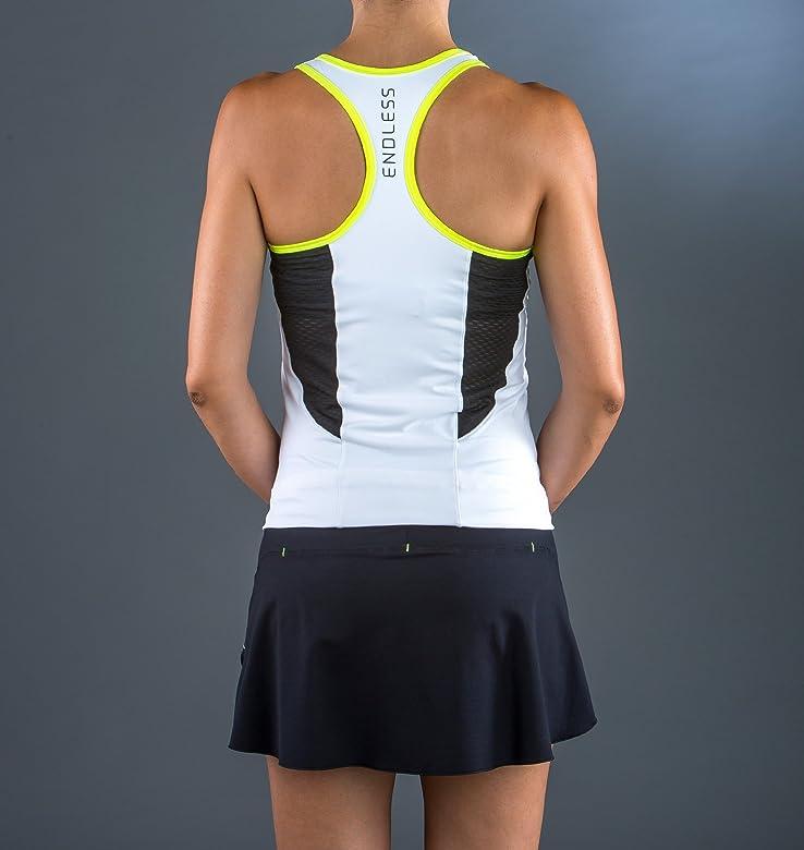 Endless Break Top de Tenis, Mujer, Blanco, S: Amazon.es: Ropa y ...