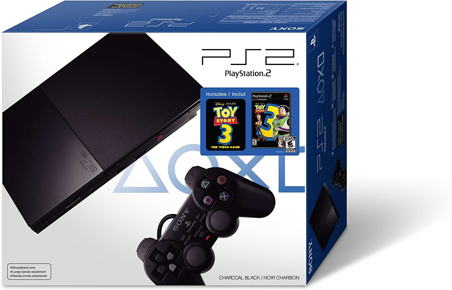 Playstation 2 Console Slim Line Version 1 Sony Controller Ps2 Video Games