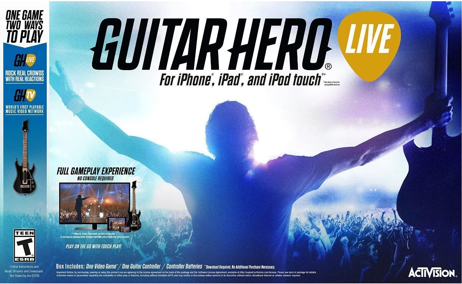 Guitar Hero Live Video Game for iPhone iPad iPod Touch vídeo Juego: Amazon.es: Electrónica