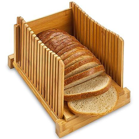 Amazon.com: Cortador de pan de bambú – Cortador plegable de ...