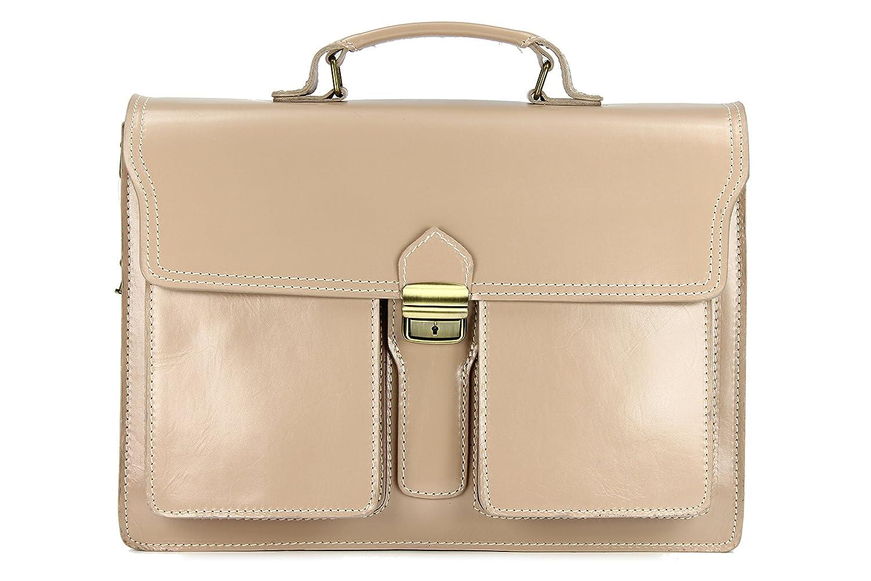 Belli Design Bag B ital. Leder Businesstasche Arbeitstasche Messenger Aktentasche Lehrertasche Laptoptasche unisex - Farbauswahl - 40x30x14 cm (B x H x T) 627.35
