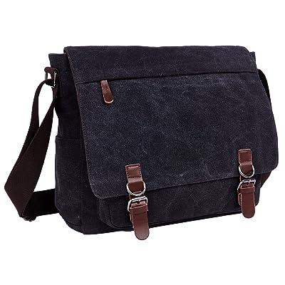 e1170770b44 chic ZUOLUNDUO Vintage Canvas Laptop Messenger Bag School Bag Business  Briefcase