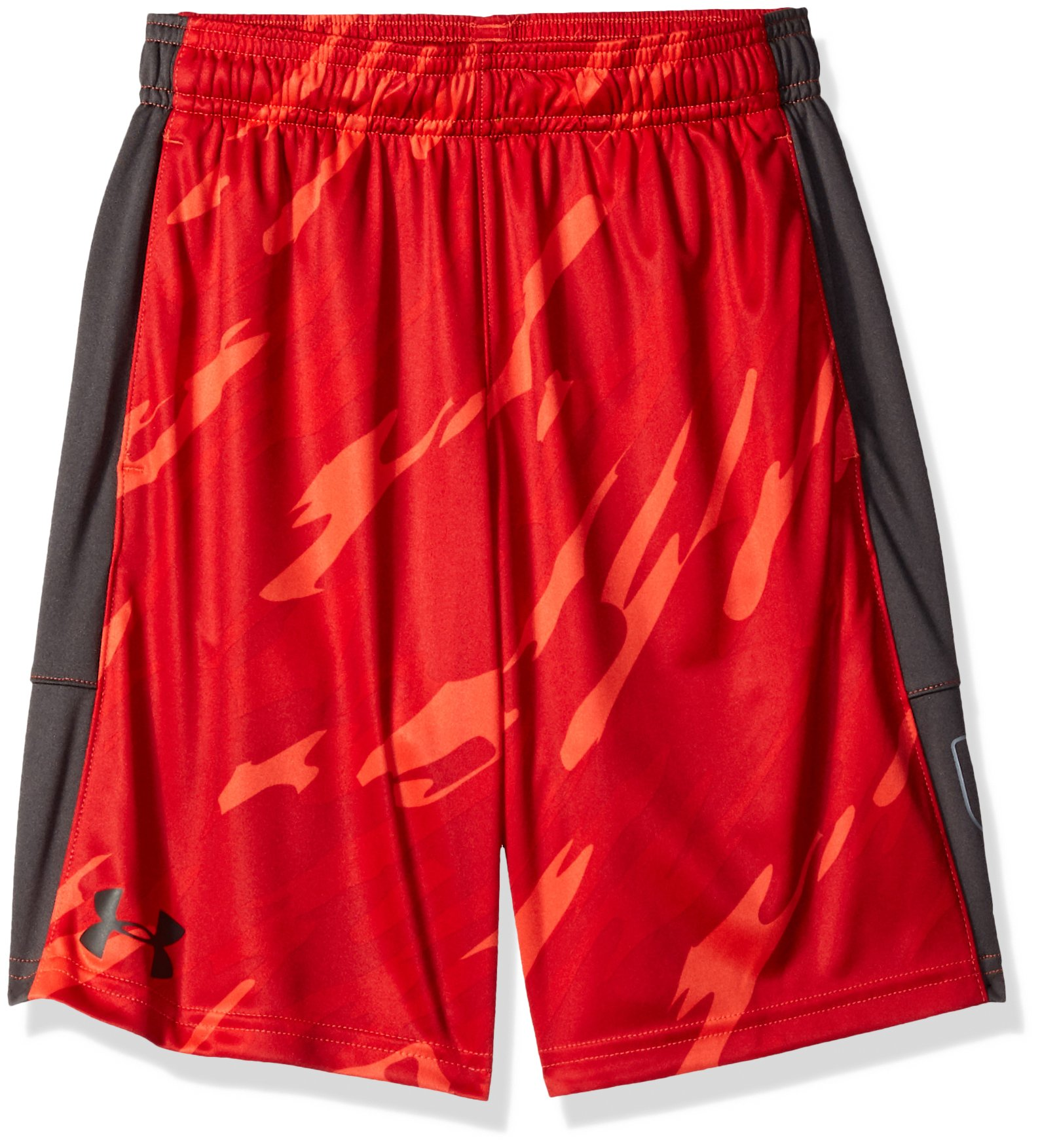 Under Armour Boys' Instinct Printed Shorts,  Radio Red (890)/Charcoal  Youth Medium by Under Armour