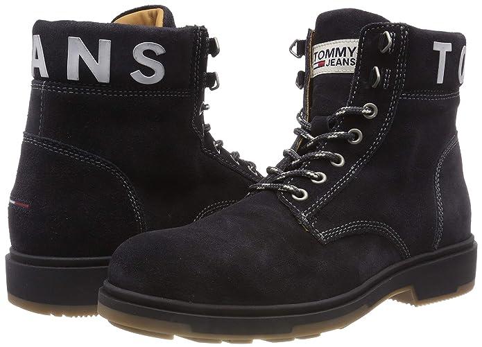 Uomo Stivali Hilfiger Suede Denim Tommy Boot Amazon Combat Jeans nTTqBvw0U