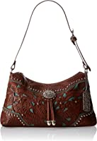 American West Lady Lace Zip-Top Shoulder Bag