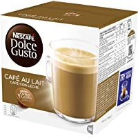 NESCAFÉ DOLCE GUSTO Cafe au lait Coffee Pods, 16 Capsules (Pack of 3 - Total 48 Capsules, 48 Servings)