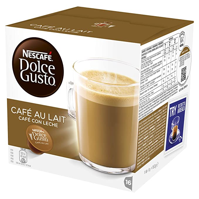 Nescafé Dolce Gusto Café con Leche Cápsulas de Café - 16 Unidades: Amazon.es: Alimentación y bebidas