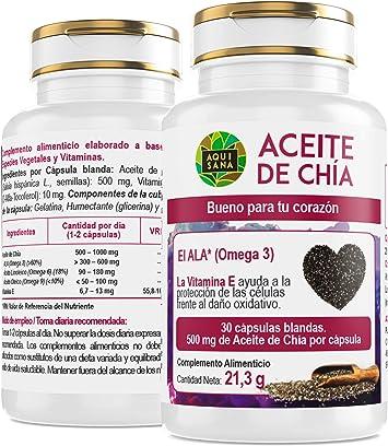 Aceite de Chía -Aquisana | salud para nuestro organismo ...