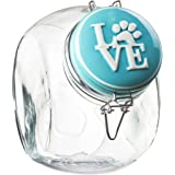 Amici Love Collection Hermetic Preserving Jar, Turquoise - 72 Ounces