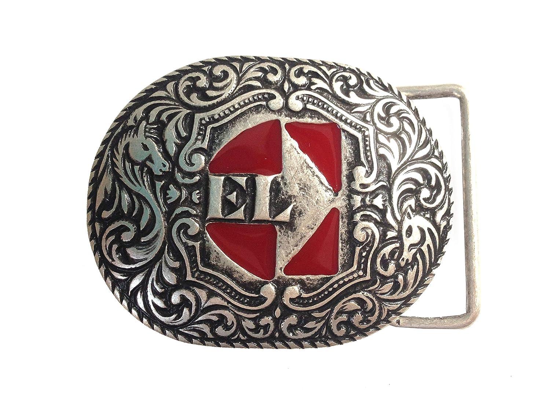 EL CHARRO B621 Fibbia per Cintura Uomo Donna