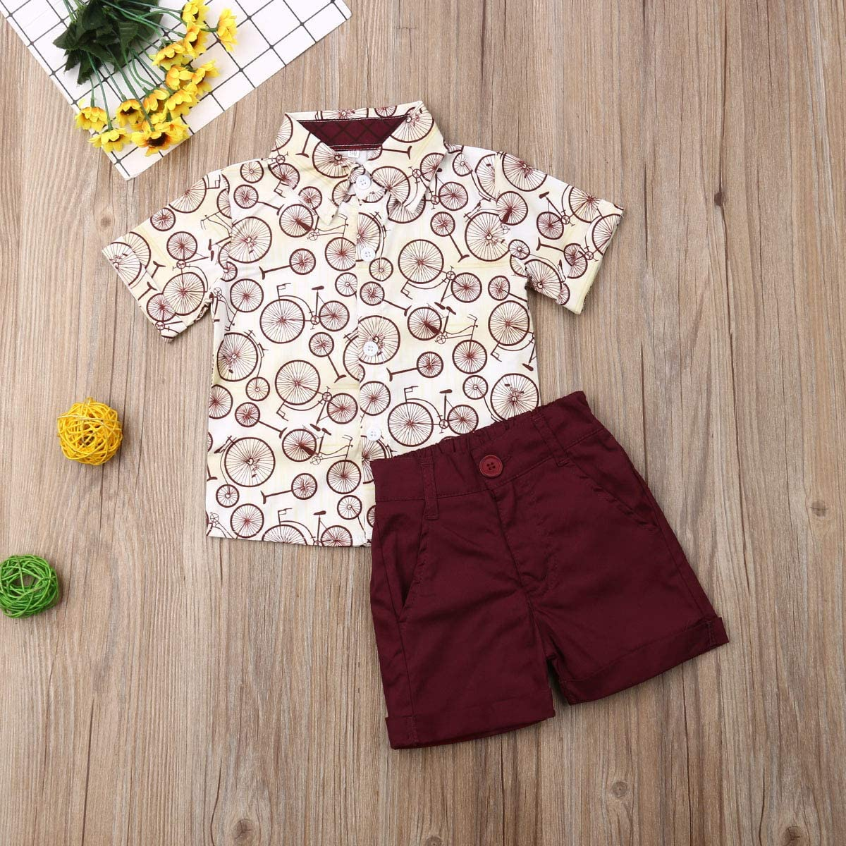 Infant Baby Boy Clothes Sets Animal Print Summer Short Sleeve Shirts and Shorts Kids 2Pcs Outfits Suit
