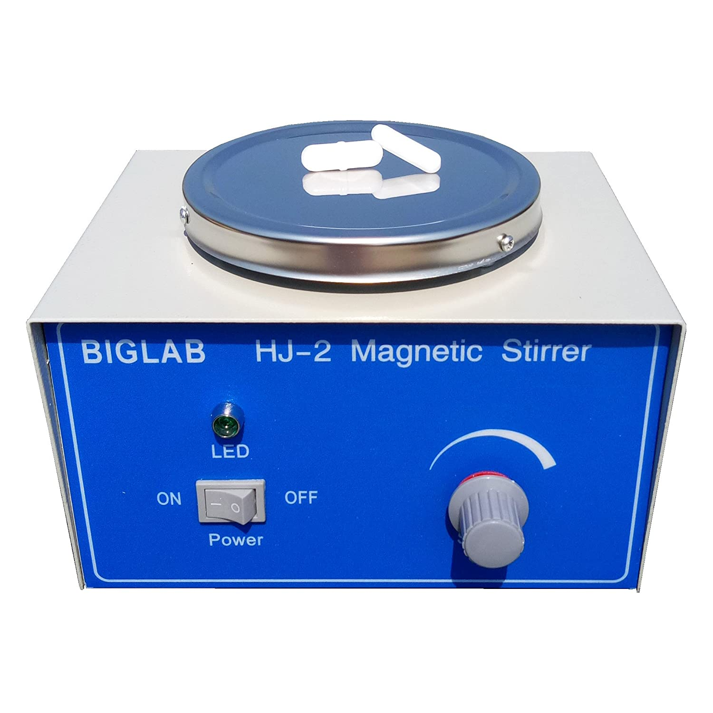 HJ-2磁気撹拌機、攪拌プレート、攪拌棒付き磁気ミキサー  B076NJFJK6