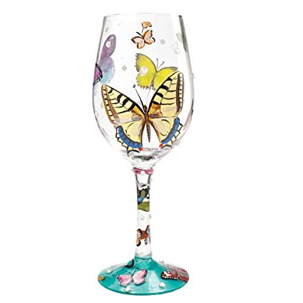 Lolita Copa para Vino laquo;Butterfly Wishes»