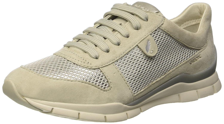 Geox D Sukie a, Zapatillas para Mujer 38 EU|Blanco (Ivoryc1008)
