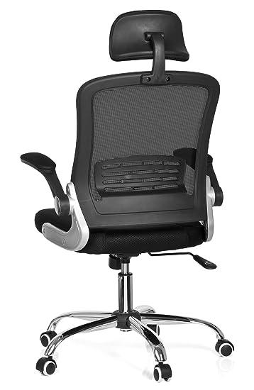 Hjh Office Vendo Net Silla de oficina Negro (Black) 50x58x113 cm