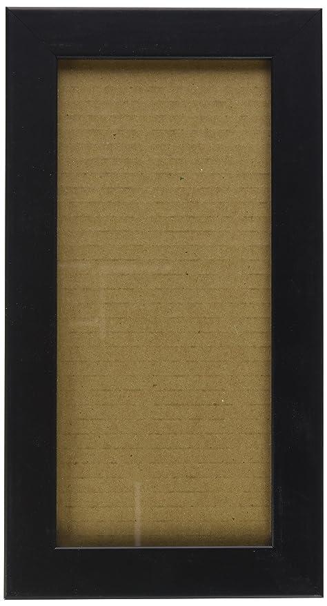 Amazoncom Arttoframes 5x11 Inch Satin Black Wood Picture Frame