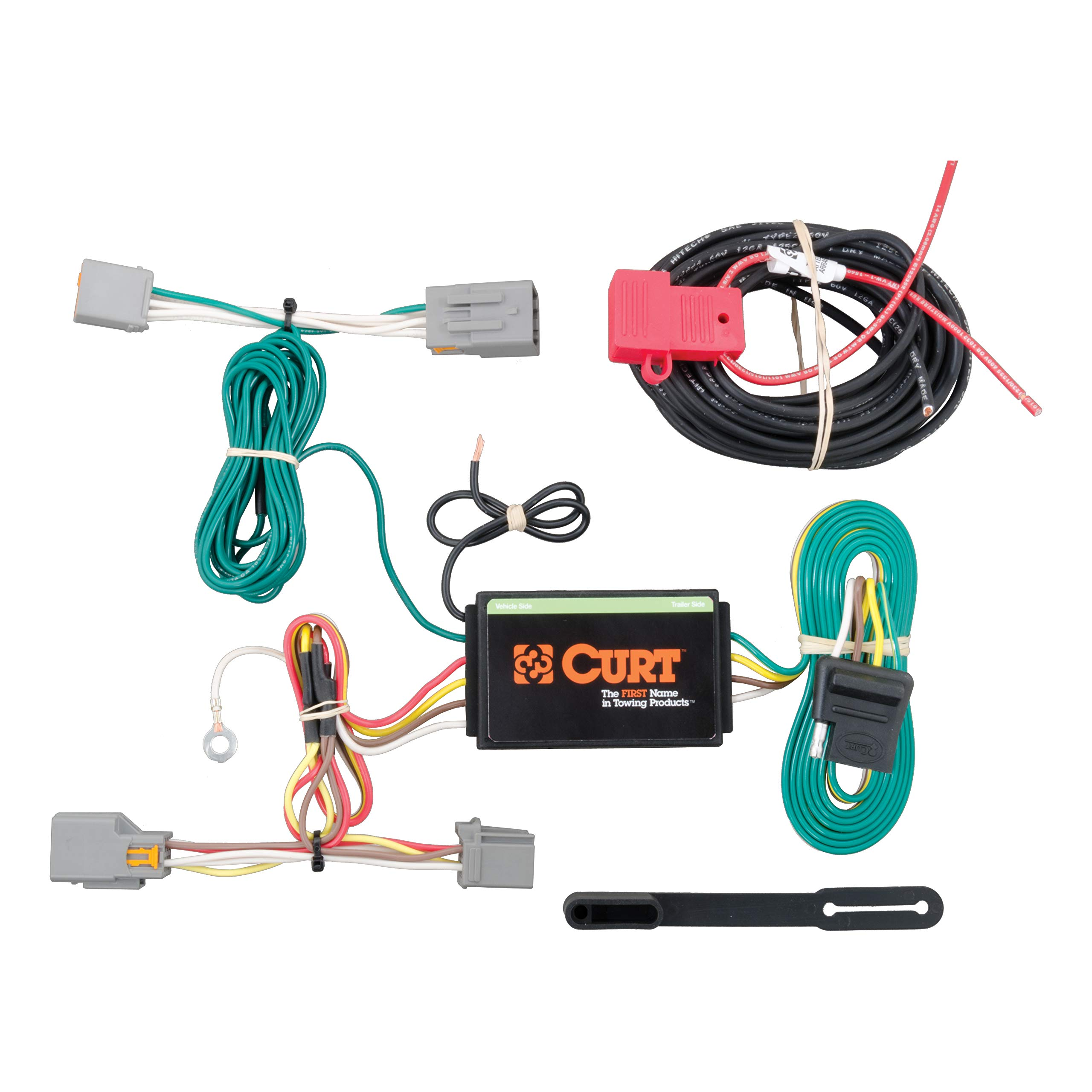 CURT 56218 Vehicle-Side Custom 4-Pin Trailer Wiring Harness for Select Ford Transit Connect by Curt Manufacturing