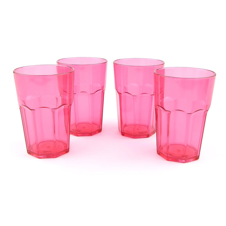 Acrylic Tumblers - Set of 4 NAVIGATE PINK SODA TUMBLER