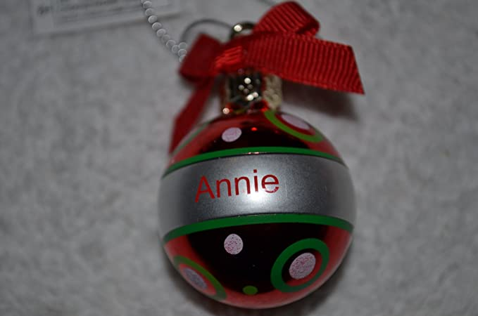 Amazon.com : Ganz Personalized Christmas Ball Christmas Ornament NWT ANNIE  : Other Products : Everything Else - Amazon.com : Ganz Personalized Christmas Ball Christmas Ornament NWT