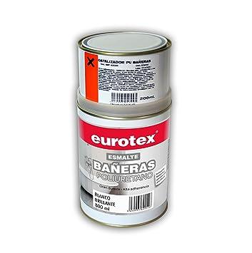 Pack de pintura de restauración de sanitarios bañeras inodoros lavabos - 1 litro - Marca Eurotex