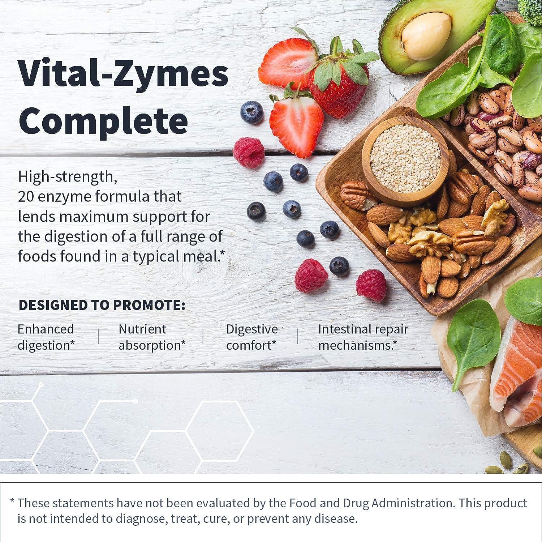 Amazon.com: Klaire Labs Vital-Zymes Complete Suplemento, 120 ...