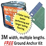 3m Wide, Multiple Length Outdoor Flooring for Awnings, Marquees, Gazebos & Instant Shelters. Festival Matting. (3m x 6m Green)
