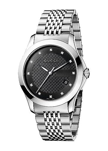 Gucci YA126405 - Reloj de Cuarzo para Hombre, Correa de Acero Inoxidable: Amazon.es: Relojes