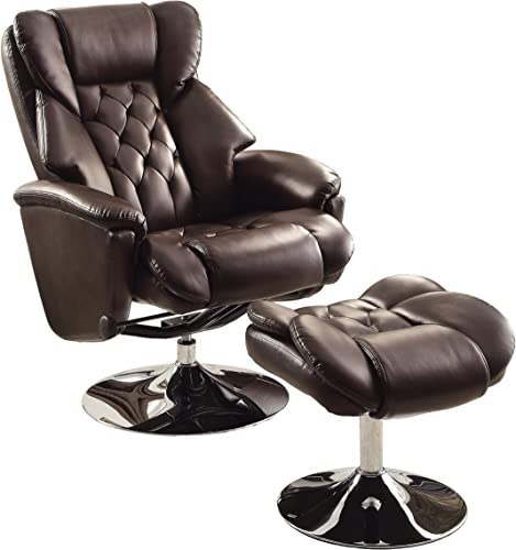 Homelegance Swivel Reclining Chair with Ottoman