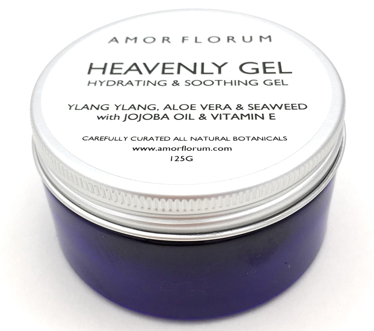 ALOE & SEAWEED - HEAVENLY GEL with YLANG YLANG - 100ml - by AMOR FLORUM - All natural hydrating and soothing gel with powerful botanical extracts and oils that will leave your skin soft and moisturised. With Aloe Vera, Witch Hazel, Jojoba Oil and Toco