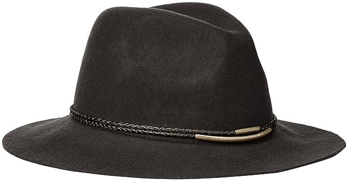 1d9a875c Michael Stars Women's Gilded Rancher Wide Brim Wool Felt Hat, Heather Oxide  One Size