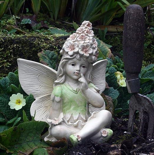 FHFY Garden Hada de Flores, Adorno de jardín, gnomo, Hada de jardín, Troll, Imp, Thoughtful Delia: Amazon.es: Jardín