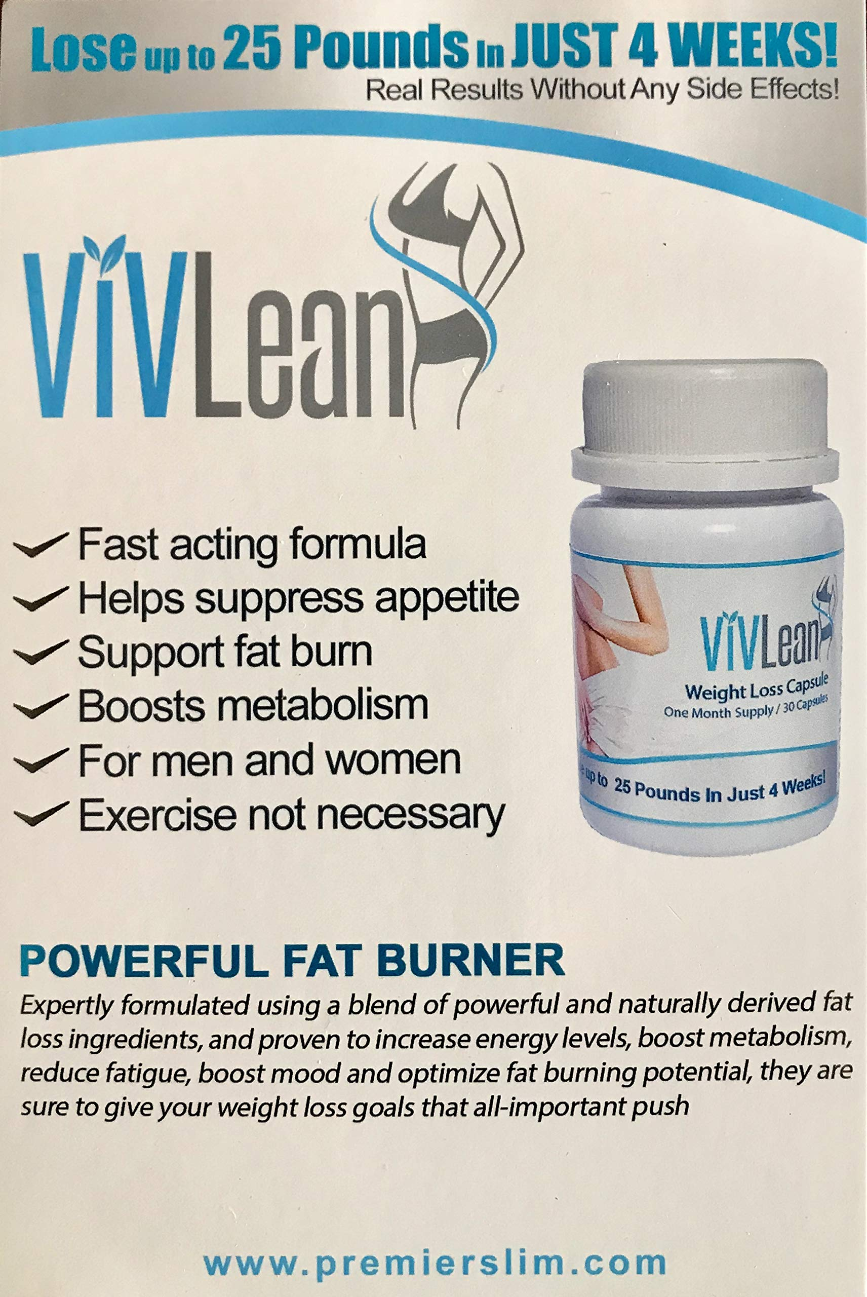 Vivslims, Viv Slim, ViVLean New and Improved Formula Lose 20 to 25 Pound in one Month