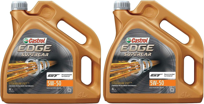 Castrol Edge Titanium Fst 5w 50 8 Litre Synthetic Motor Oil Auto
