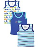 Luvable Friends Sleeveless Tee Tops, 3 Pack, Pink