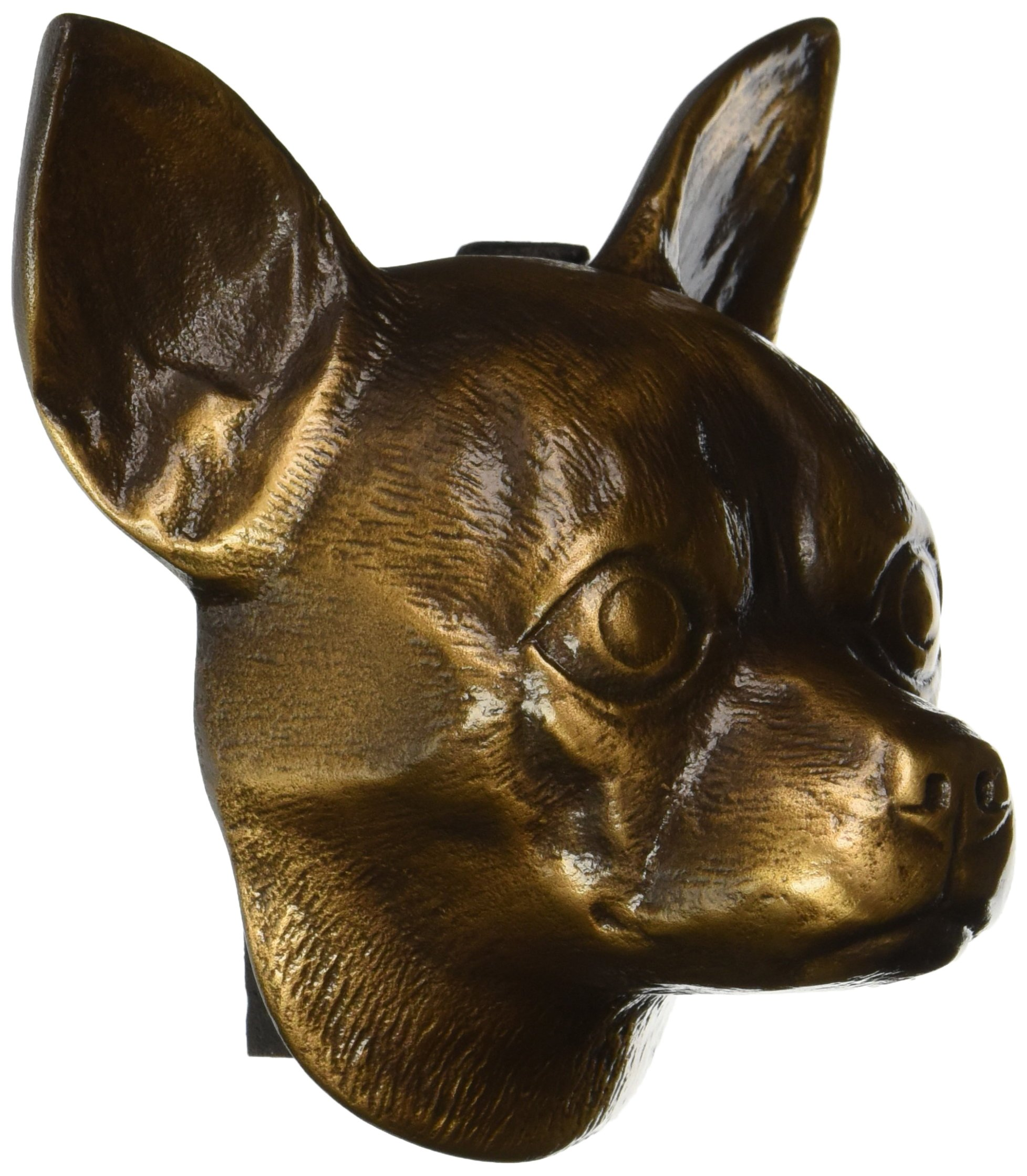 Chihuahua Dog Knocker - Bronze by Michael Healy Designs
