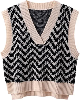 Autumn/Winter New Sweater Waistcoat Women Loose V-Neck Sleeveless Sweater