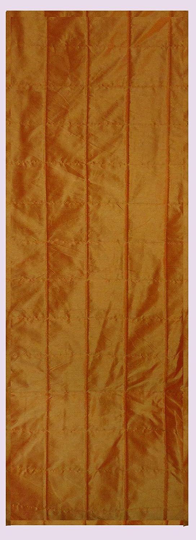 SAFFRON Camino de mesa naranja de poliéster Dupioni de seda ...