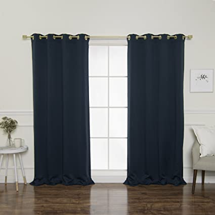 Best Home Fashion Gold Grommet Blackout Curtains