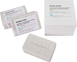 MARLOWE. No. 102 Men's Body Scrub Soap 7 oz (3 Bars) | Best Exfoliating Bar for Men | Made with Natural Ingredients |...