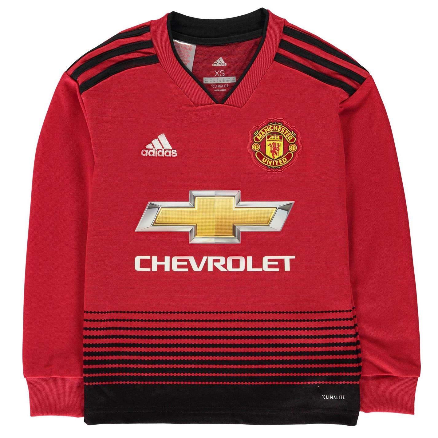 Adidas Kinder 18 19 Manchester United Home Longsleeve Trikot