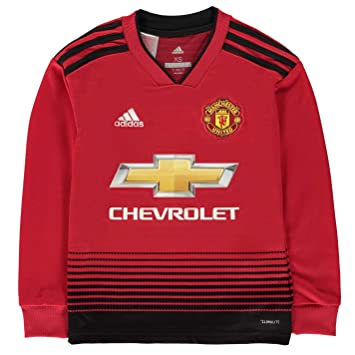 best website 5a395 9be92 Amazon.com : adidas Manchester United Home L/S Kids Jersey ...