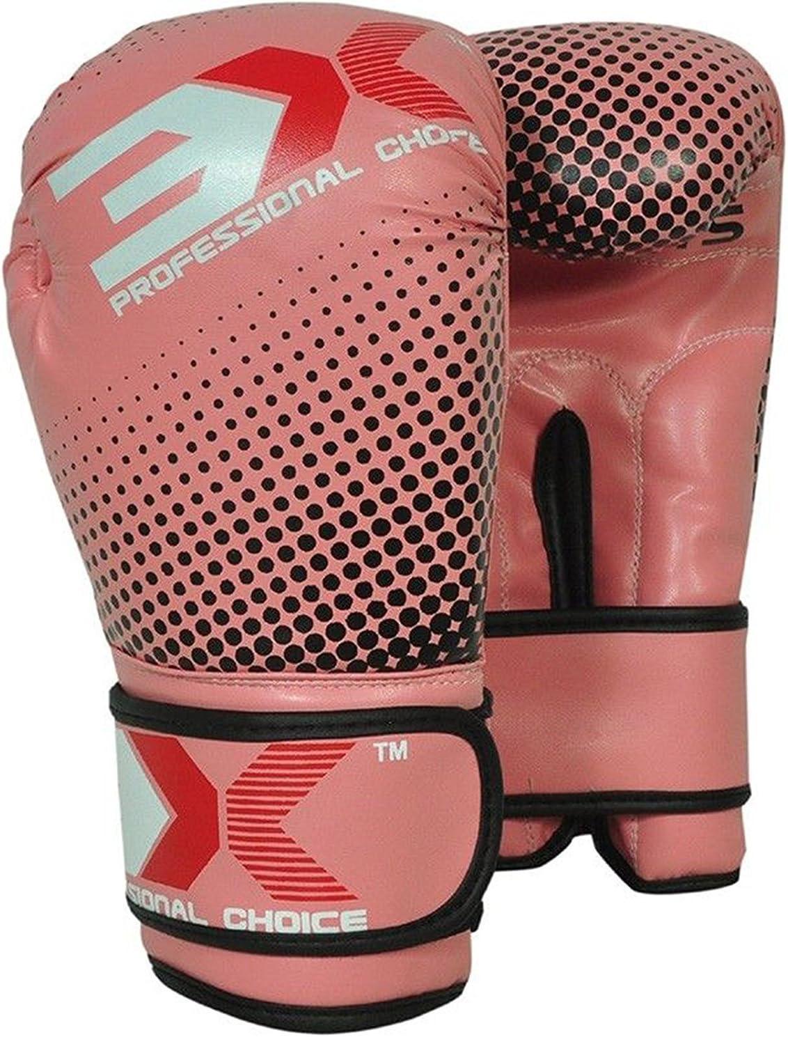 3X Professional Choice Ni/ños Guantes de Boxeo Maya Hide Saco de Boxeo de Cuero Mitones Kickboxing Sparring Krav Maga Entrenamiento de Artes Marciales Ni/ños Ni/ñas