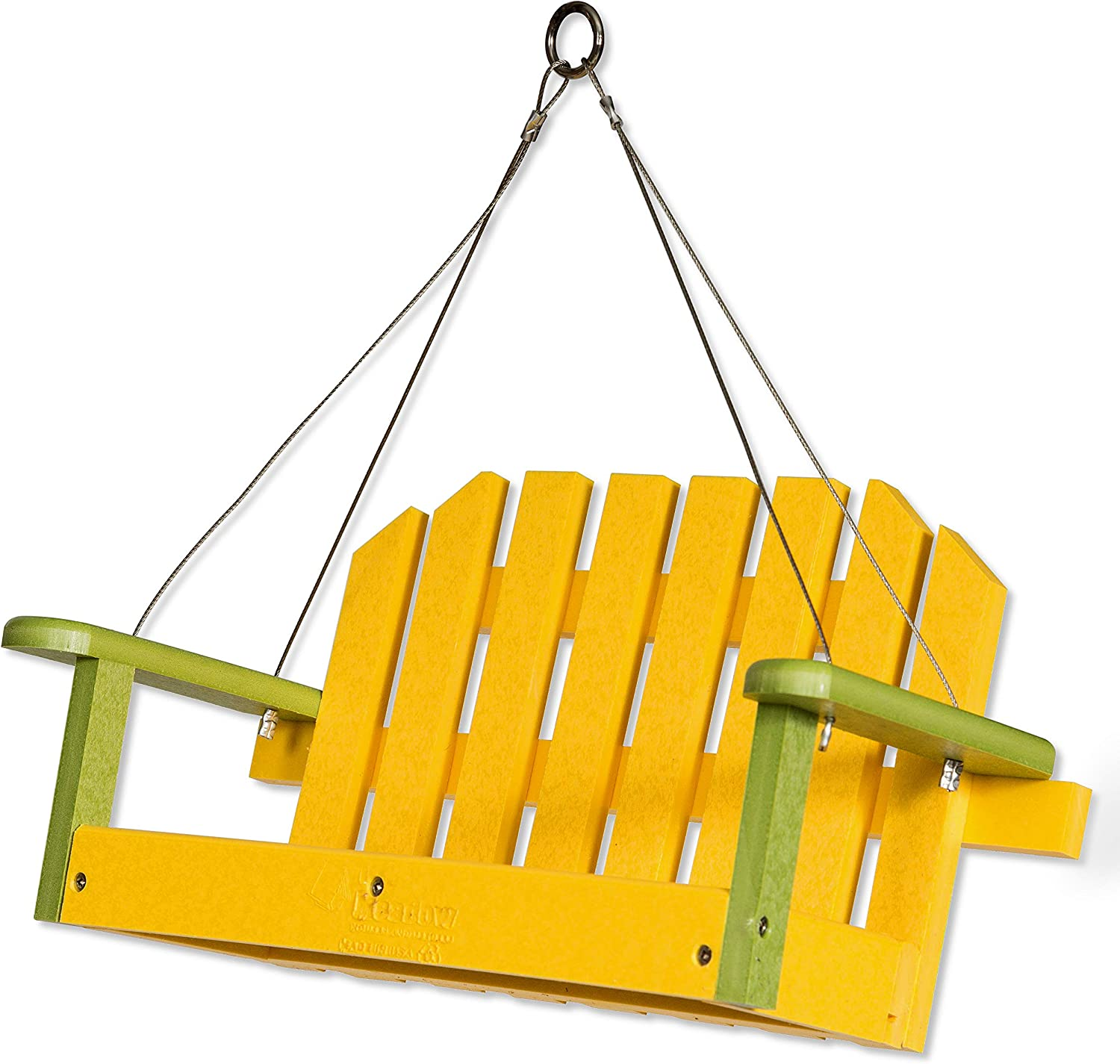 DutchCrafters Poly Hanging Swing Bird Feeder (Lime & Lemon Yellow)