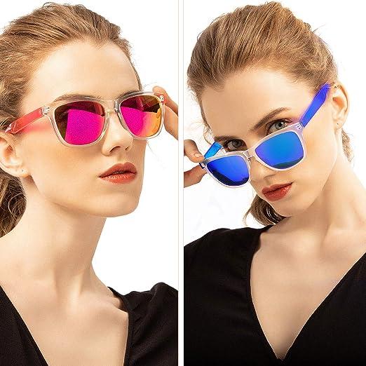 Amazon.com: Gafas de sol de moda para mujer, lentes de ...